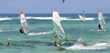 Surfen auf Mauritius