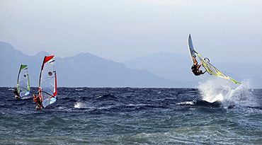 Windsurfen auf Rhodos