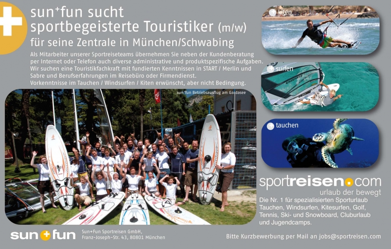 sun+fun such sportbegeisterte Touristiker 2010-2011